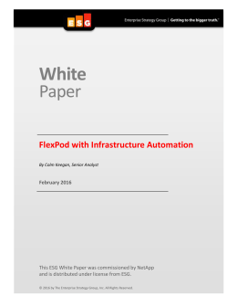 White  Paper FlexPod with Infrastructure Automation