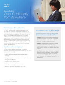 Work Confidently from Anywhere Secure Mobility: Government Case Study Highlight