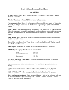 Council of Library Department Heads Minutes March 25, 2002 Present: Minutes: