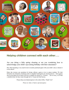 Helping children connect with each other…..