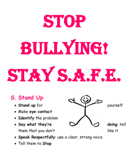 Stop Bullying! Stay S.A.F.E.