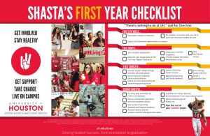 SHASTA'S YEAR CHECKLIST FIRST GET INVOLVED