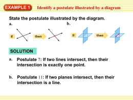 EXAMPLE 1 Identify a postulate illustrated by a diagram b.