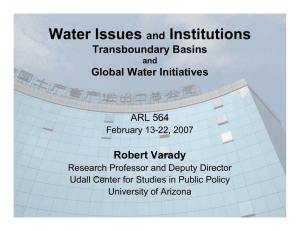 Water Issues Institutions and Transboundary Basins