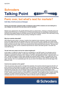 Talking Point Schroders Panic over, but what's next for markets?
