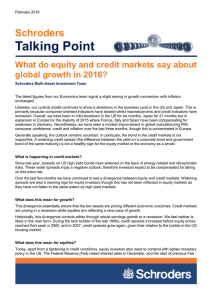 Talking Point Schroders What do equity and credit markets say about