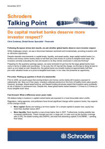 Talking Point Schroders Do capital market banks deserve more investor respect?