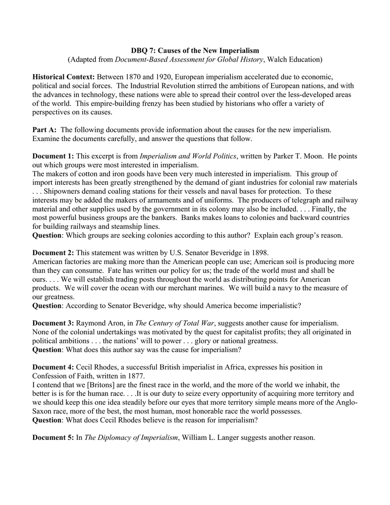 new imperialism essay essay about new york descriptive essay on  dbq 7 causes of the new imperialism historical context