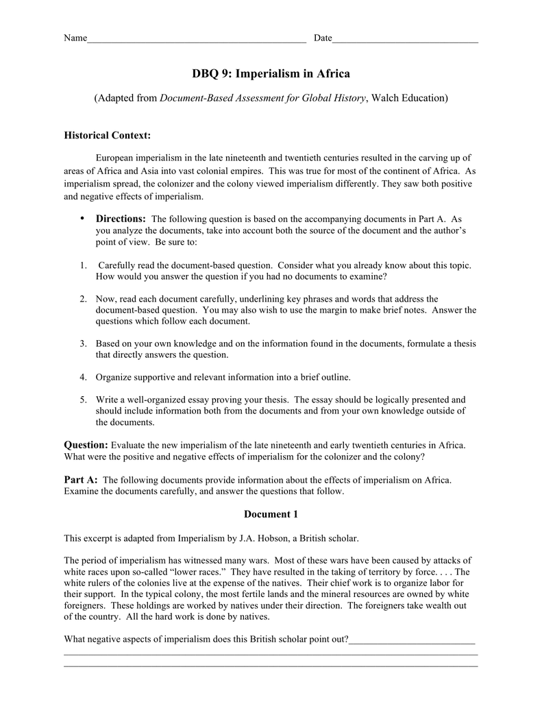 essay on imperialism document file chap imperialism and ian case  also document file chap imperialism and ian case study notes cover letter causeeffect essay example essay positive negative effects of in based question