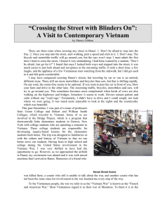 """Crossing the Street with Blinders On"": A Visit to Contemporary Vietnam"
