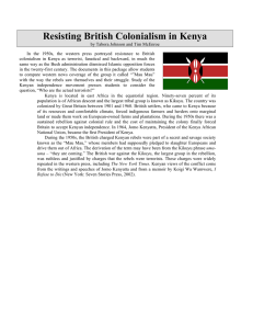 Resisting British Colonialism in Kenya