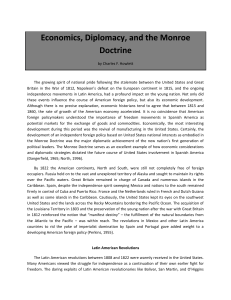 Economics, Diplomacy, and the Monroe Doctrine