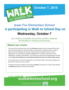 October 7, 2015 Wednesday, October 7 Isaac Fox Elementary School