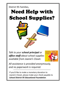 Need Help with School Supplies?