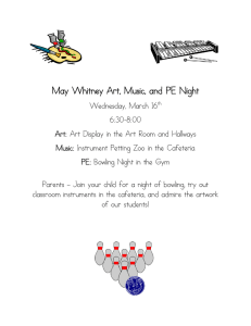 May Whitney Art, Music, and PE Night