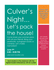 Culver's Night … Let's pack