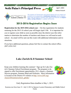 2015-2016 Registration Begins Soon Seth Paine's Principal Press