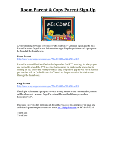 Room Parent & Copy Parent Sign-Up