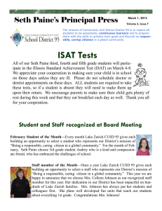 ISAT Tests Seth Paine's Principal Press