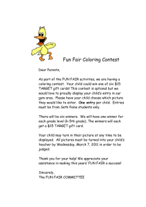 Fun Fair Coloring Contest