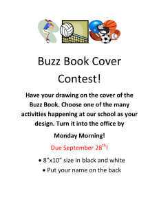 Buzz Book Cover Contest!