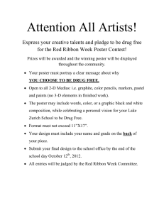 Attention All Artists! for the Red Ribbon Week Poster Contest!