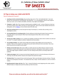 TIP SHEETS St. Catherine of Siena Catholic School  10	Tips	to	help	your	child	with	MATH