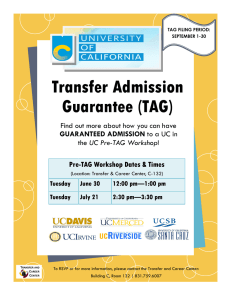 Transfer Admission Guarantee (TAG) Find out more about how you can have