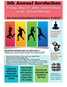 5th Annual at St. Alfred School AN ENVIRONMENT-FRIENDLY EVENT