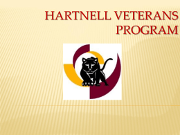 HARTNELL VETERANS PROGRAM