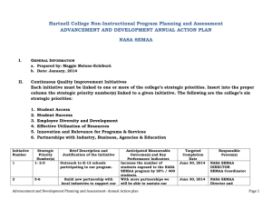 Hartnell College Non-Instructional Program Planning and Assessment