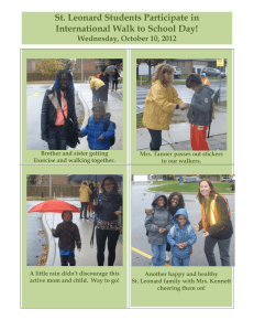 St. Leonard Students Participate in International Walk to School Day!