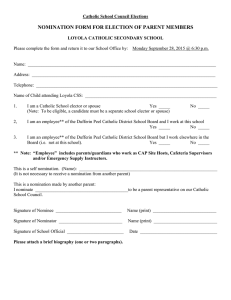 NOMINATION FORM FOR ELECTION OF PARENT MEMBERS