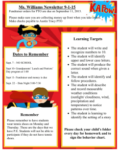 Ms. Williams Newsletter 9-1-15