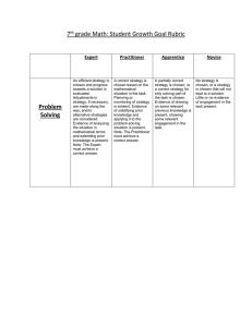 7 grade Math: Student Growth Goal Rubric  Expert