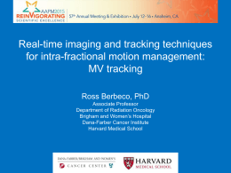 Real-time imaging and tracking techniques for intra-fractional motion management: MV tracking