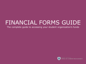 FINANCIAL FORMS GUIDE