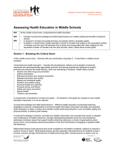 Assessing Health Education in Middle Schools