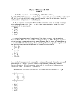 ε Physics 2401 Summer 2, 2008 Exam II µ