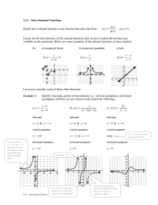 2.12 – More Rational Functions  ) (