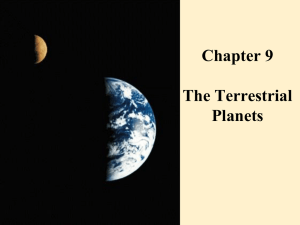 Chapter 9 The Terrestrial Planets