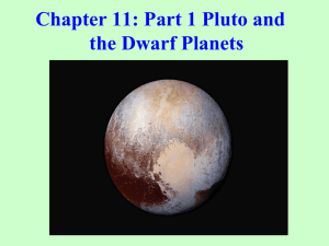 Chapter 11: Part 1 Pluto and the Dwarf Planets
