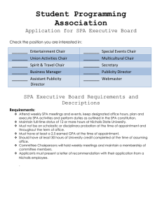Student Programming Association Application for SPA Executive Board ______