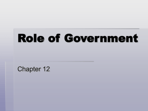 Role of Government Chapter 12