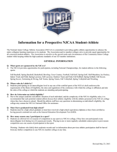 Information for a Prospective NJCAA Student-Athlete