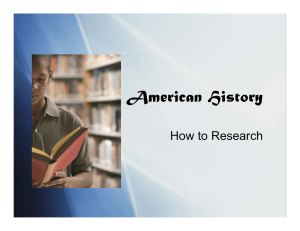 American History How to Research