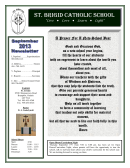 The St. Brigid Parish Bulletin can be found on our website