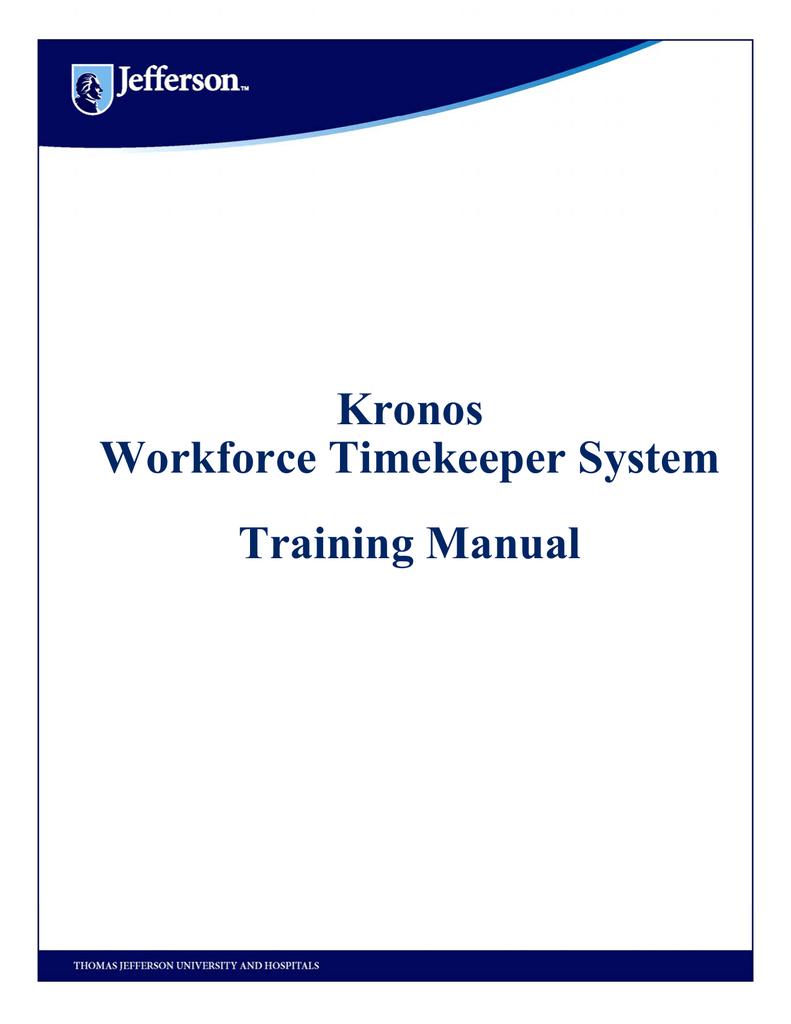 Kronos workforce timekeeper system training manual publicscrutiny Gallery