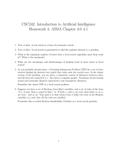CSC242: Introduction to Artificial Intelligence Homework 4: AIMA Chapter 4.0–4.1