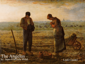 The Angelus Leah Caudel By: Jean-Francois Millet